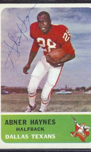 I Nominate Abner Haynes for the College and Pro Football Halls of Fame